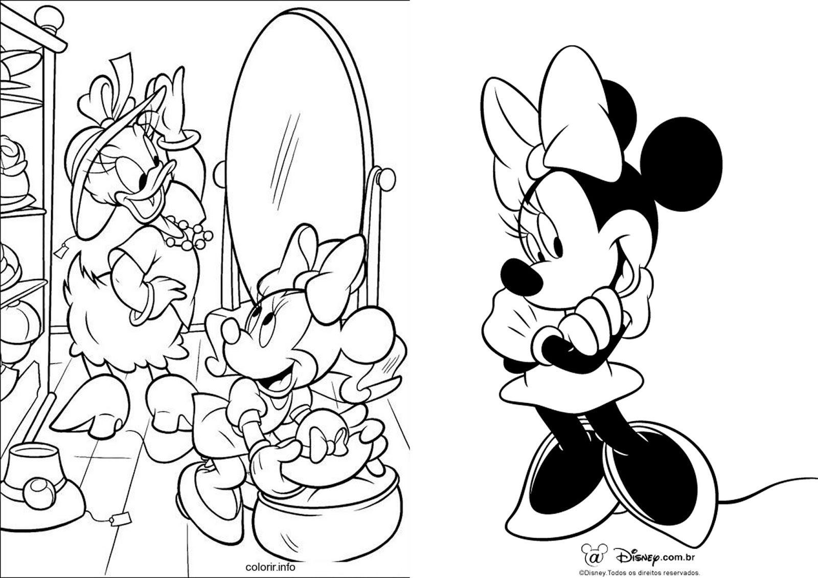 Livro De Colorir Minnie Paginas Para Colorir Da Disney Livro De