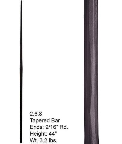 Best Hf 2 6 8 Plain Tapered Round Hammered Iron Baluster Iron 640 x 480