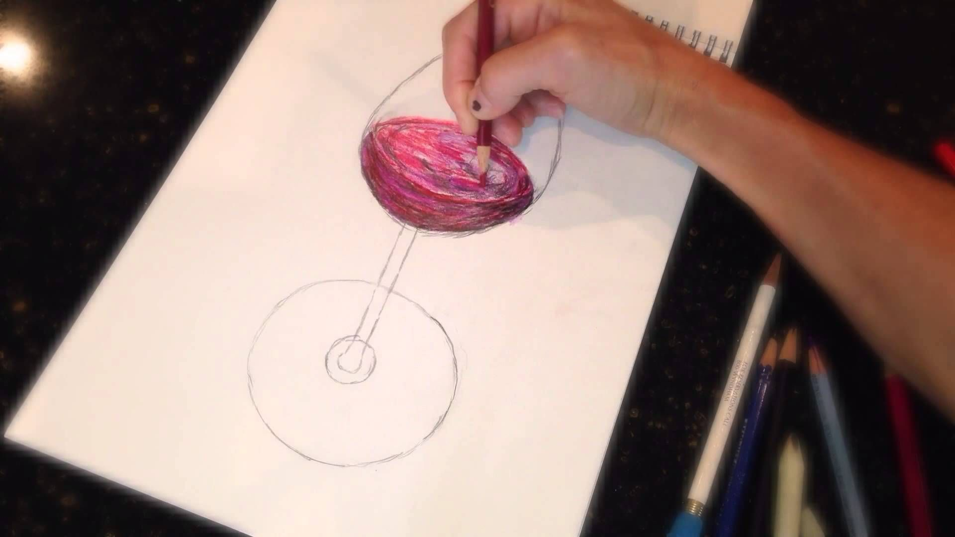 wine sketch comes to life: An Artist is never out of wine! Cheers :)