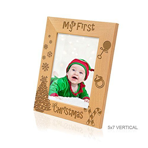 Kate Posh My First 1st Christmas Picture Frame 5x7 Vertical
