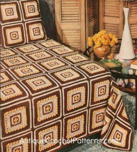 Block Crocheted Bedspread Free Crochet Pattern Crochet Bedspread