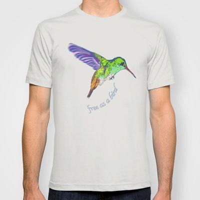 free as a bird T-shirt by Atelier Spunk - $18.00