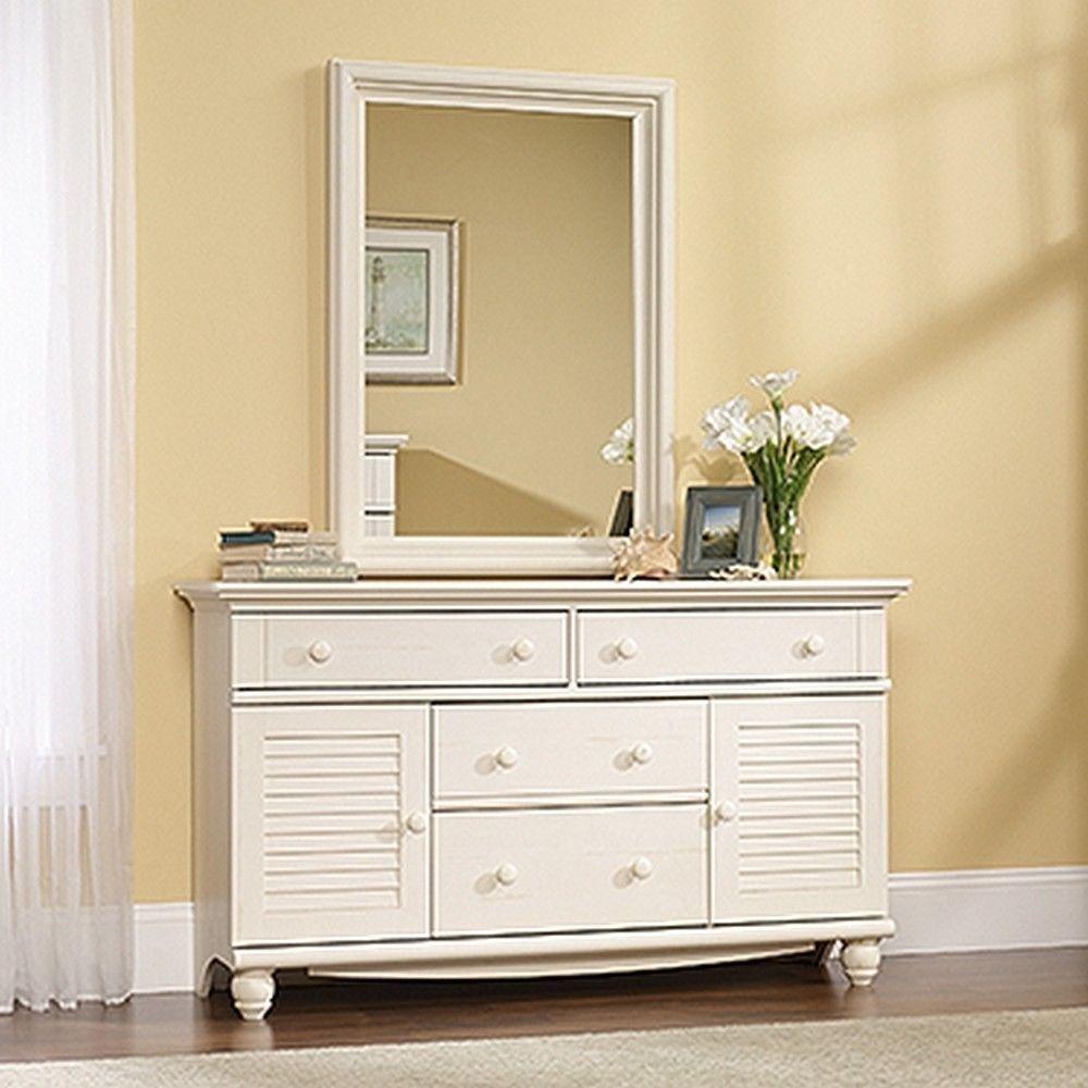 Best Sauder 158016 Harbor View Dresser Antiqued White Finish 400 x 300