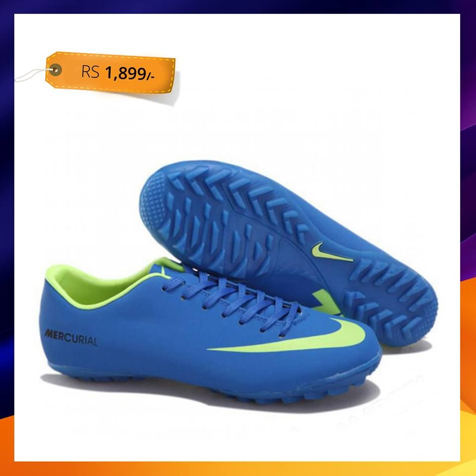 NIKE Blue Football Gripper Shoes (459-470-5067-Lochmara) Rs  1899 Original  Price  Rs. 2599 231f60660