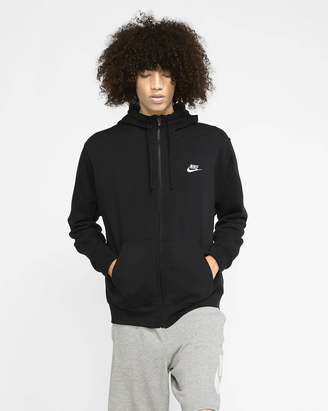 Nike Sportswear Club Fleece Men's Full Zip Hoodie.