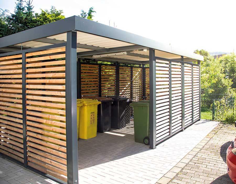 Einhausung ohne Tür mit Holzwandfeldern Pergola's, Tuin
