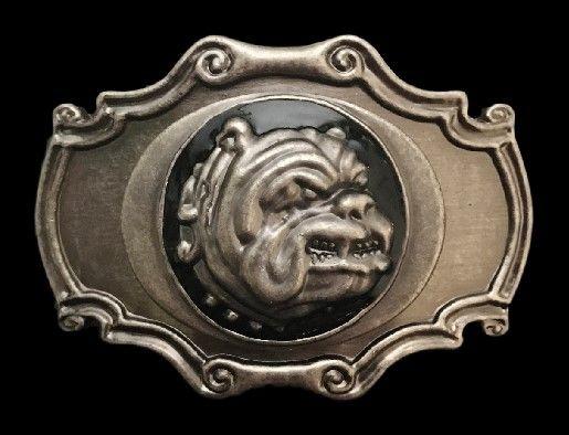 Bulldog Dogs Head n Spike Collar Pet Animal Belt Buckle #bulldog #dog #ilovebulldogs #pet #familypet #puppy #dogbuckle #beltbuckle #buckles #coolbuckles