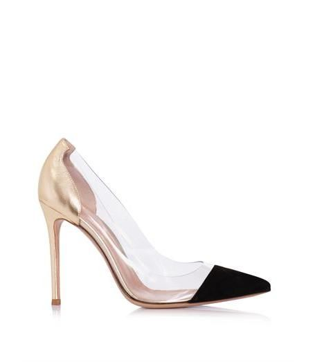 Gianvito Rossi Exclusive suede, leather & PVC pumps