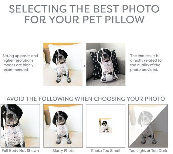 Custom Shaped Pet Pillow, Mother's Day