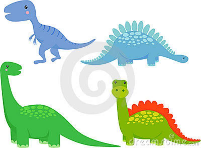 Download Cute Dinosaur Cartoon Set Royalty Free Stock Photos