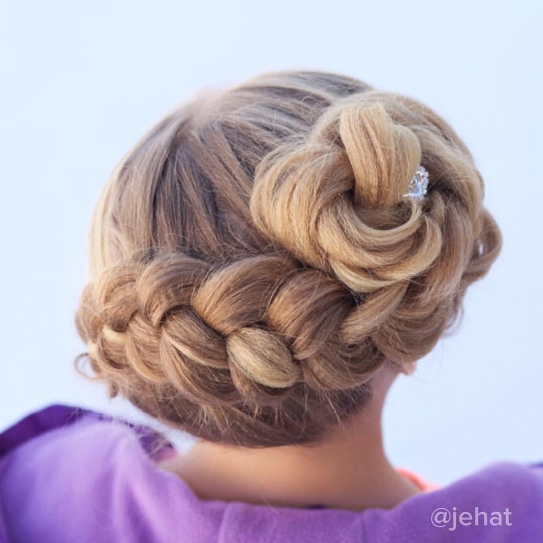 Jehat hair u another view of hallieus dutch braid to flower