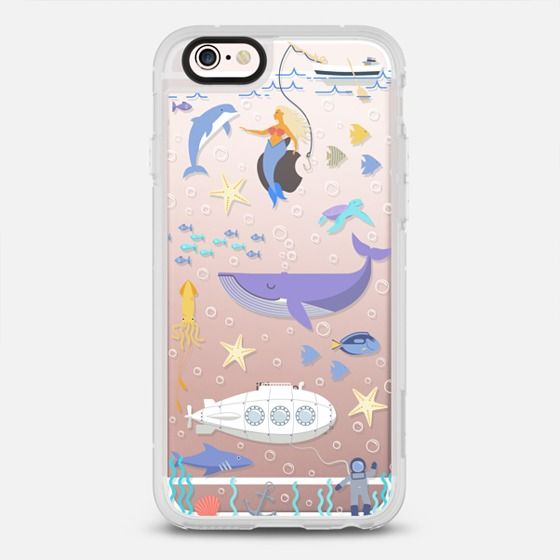 Under the sea, mermaid, whale and delphine underwater adventures. - New Standard Case