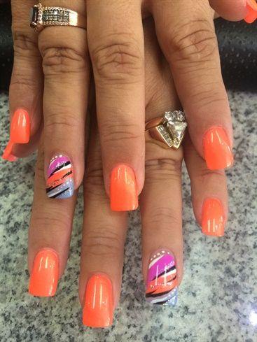 pinks nail studiojulieakapink in 2020  summer nails