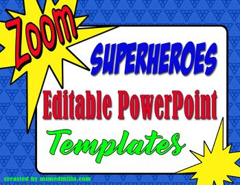 Super heroes powerpoint slide template pinterest morning work superhero fun use these editable powerpoint templates to display morning work or seat work instructions this resource contains five ppt slides have fun toneelgroepblik Images