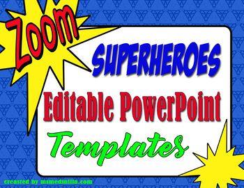 super heroes powerpoint slide template school ideas pinterest