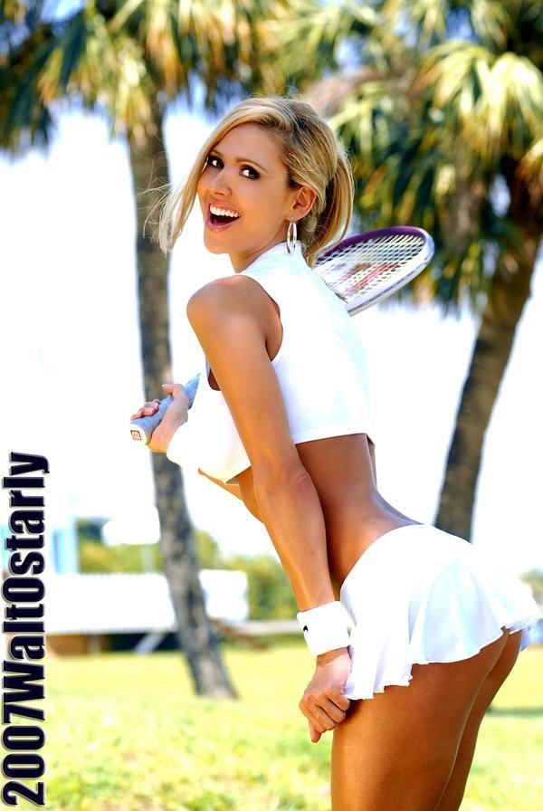 Sexy girls in tennis skirts