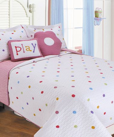 Look What I Found On Zulily Polka Dots Quilt Set