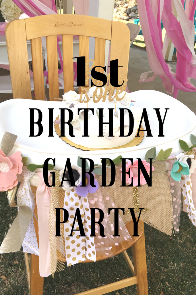 1st birthday first birthday garden party floral party party