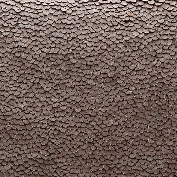 Detail Of Leather Sequins From Cuyana Textures