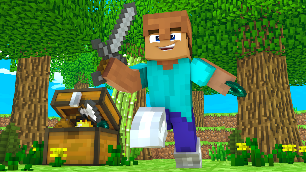 Marianarv I Will Design 2 Minecraft Thumbnails For 5 On Fiverr Com Minecraft Thumbnail Design Hunger Games Minecraft