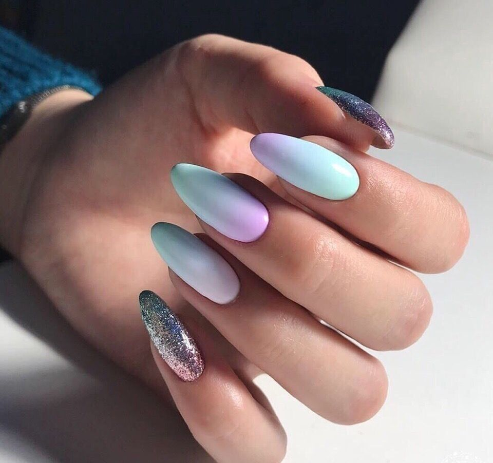 50 Cute Pastel Colours Ombre Nail Art For Beautiful Winter