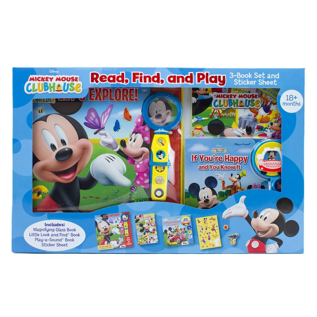Disney S Mickey Mouse Clubhouse Read Find Play 3 Book Set