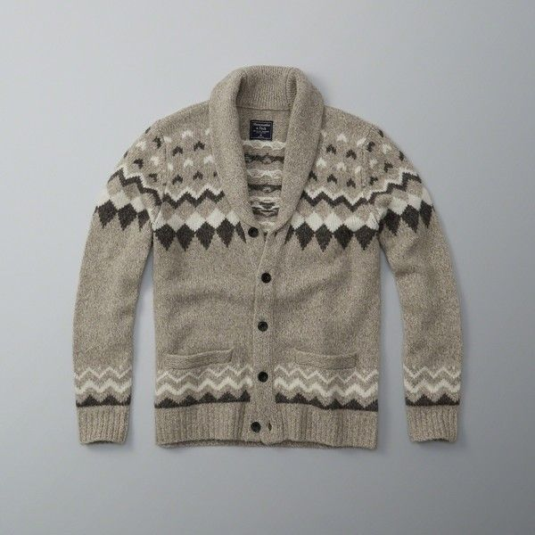 Abercrombie & Fitch Wool-Blend Fair Isle Shawl Cardigan ($72 ...