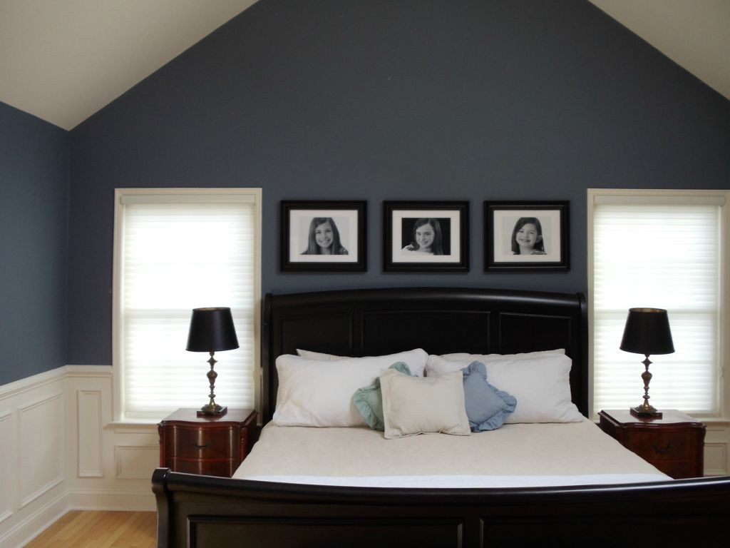 Superior Wainscoting Ideas With Grey Wall And Double Windows For Bedroom Inspiration