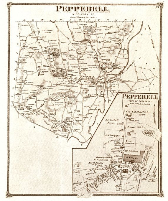 Map Of Pepperell Ma Google Search Map Pepperell Vintage World Maps