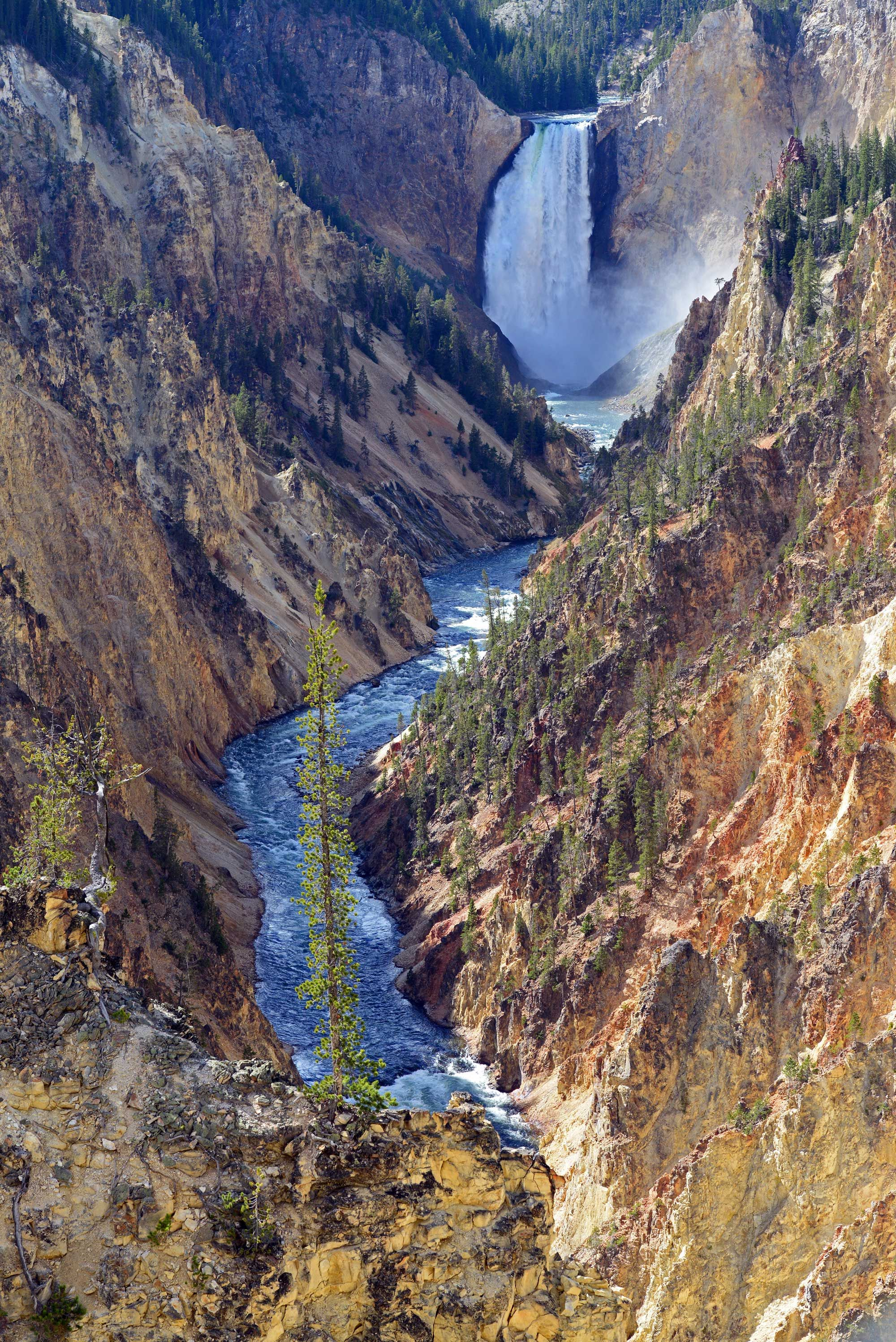 Lower Yellowstone Falls seen from Artist's Point Artist
