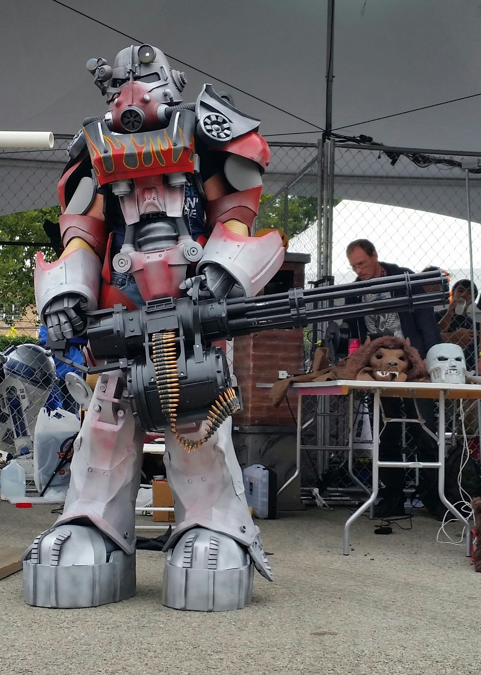 Fallout 4 video game T-60 Power Armor with Atom Cats paint job and
