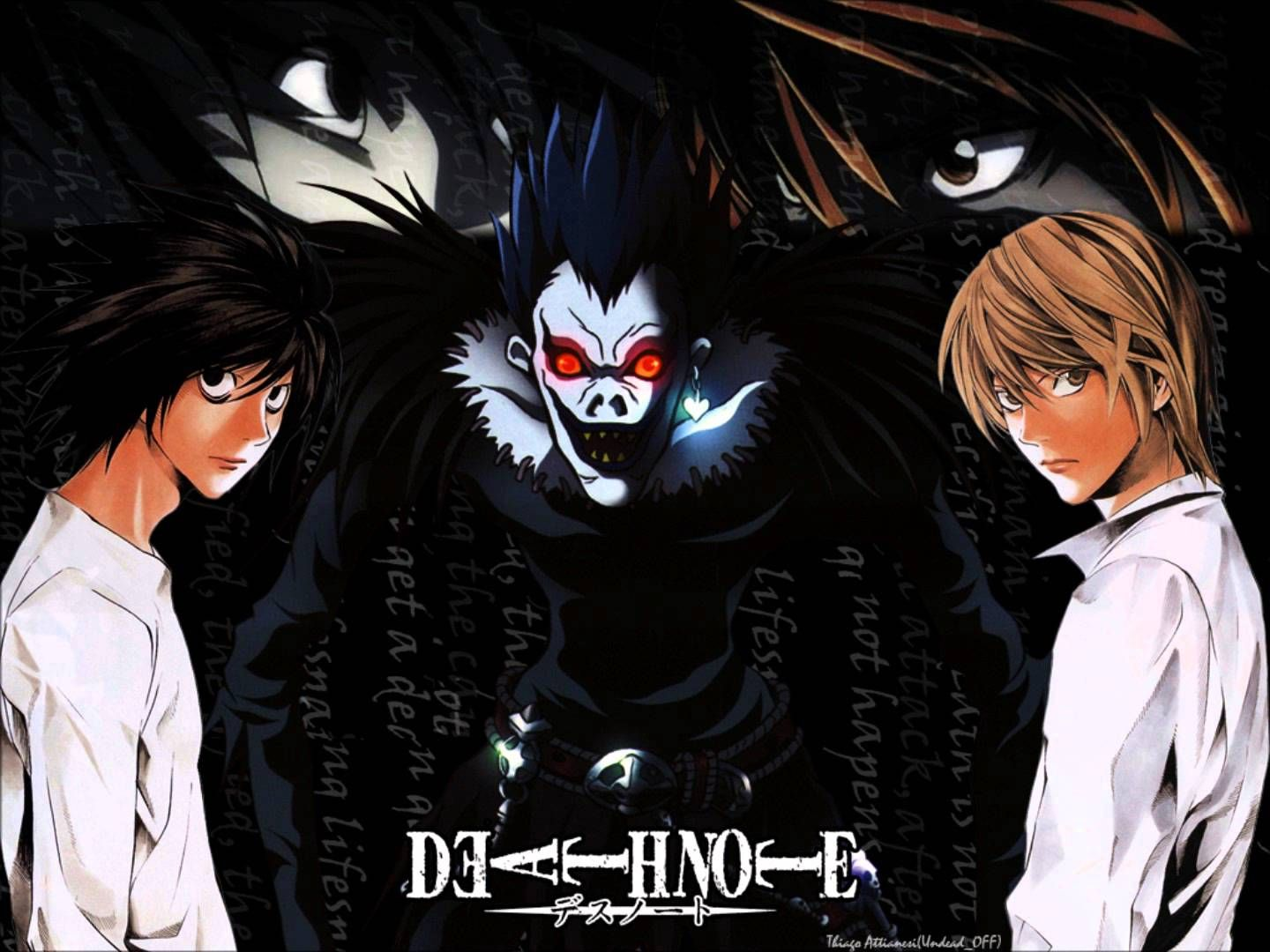 L. vs Kira Death note, Nota de muerte, Shinigami ryuk