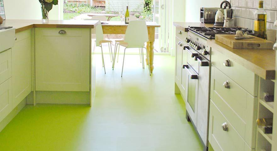 Pistachio green kitchen vinyl flooring | Architectural Specification ...