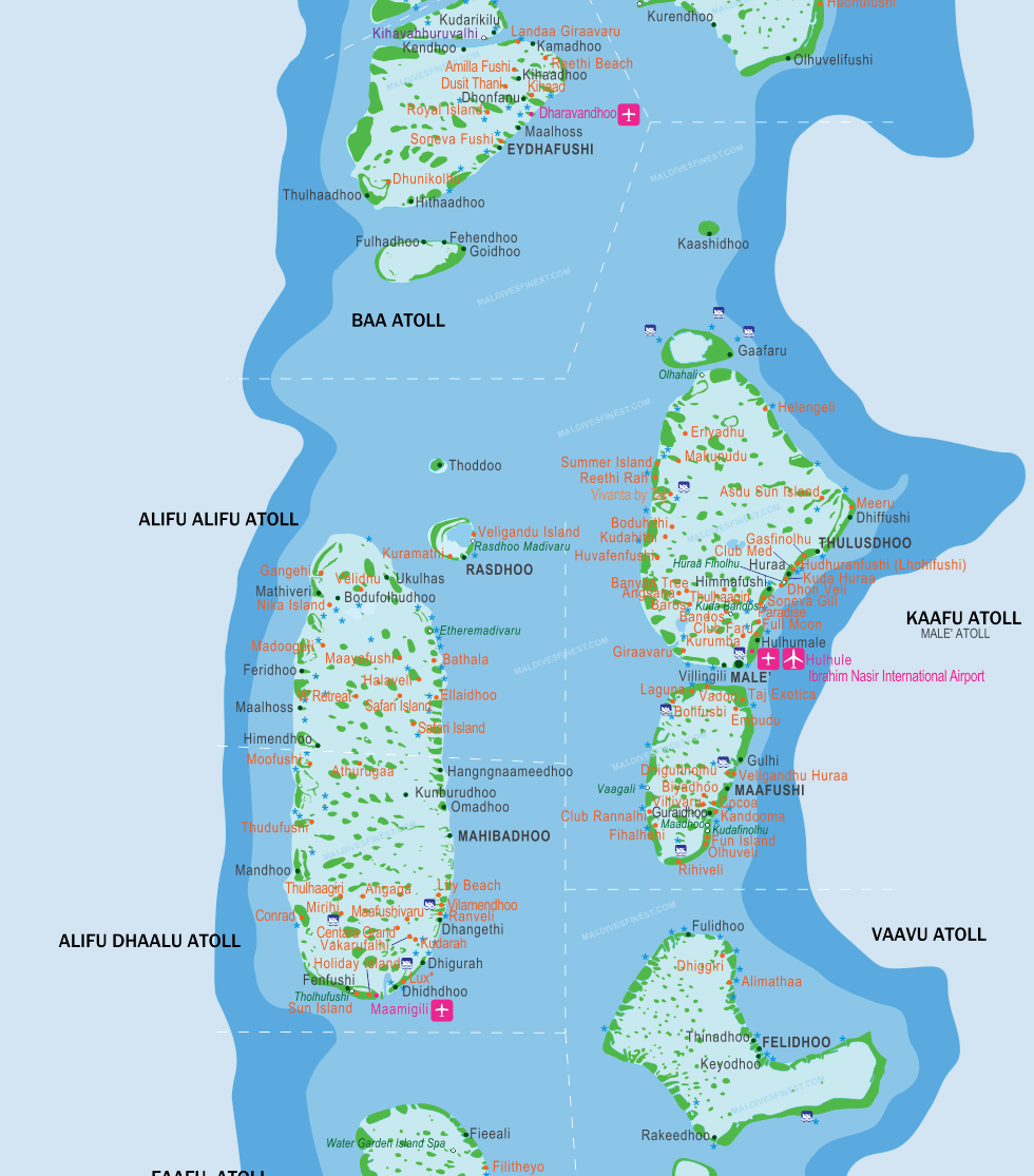 Maldives Islands Map Maldives Destinations Visit Maldives