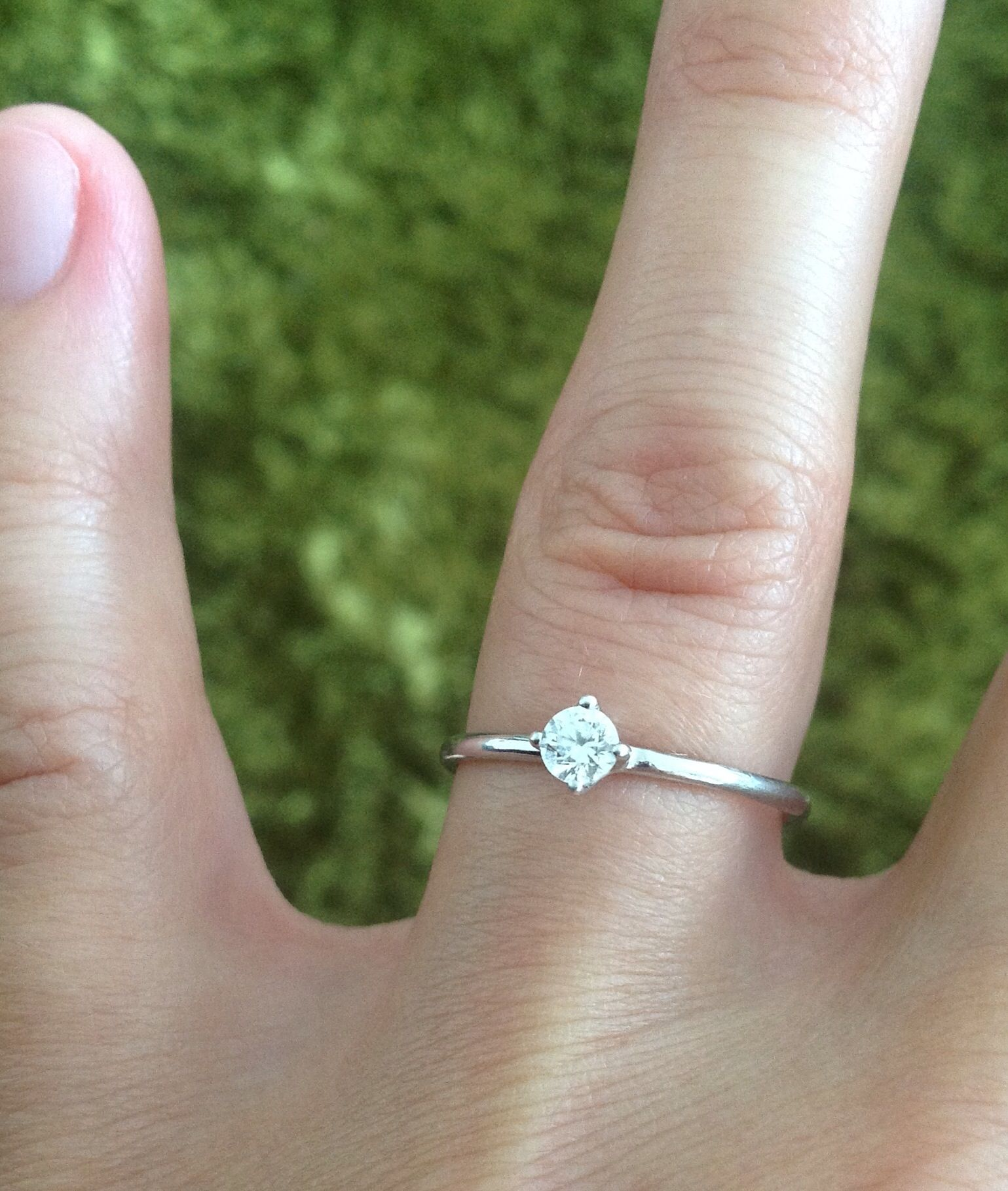 My Bling Bling Engagement Ring Mein Verlobungsring