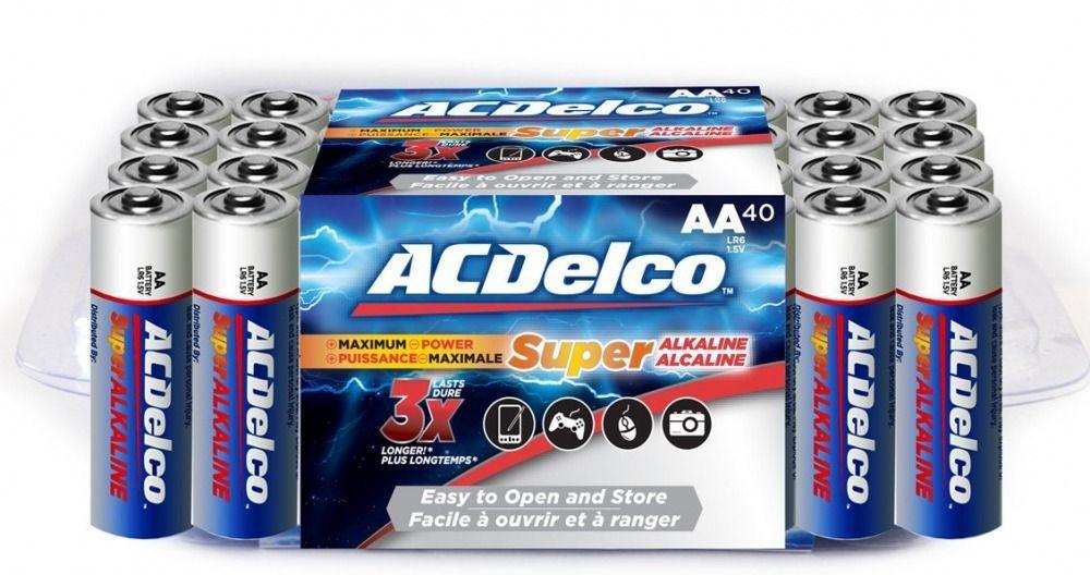 Acdelco Super Alkaline Aa Batteries 40 Count Acdelco Acdelco Aaa Batteries Batteries