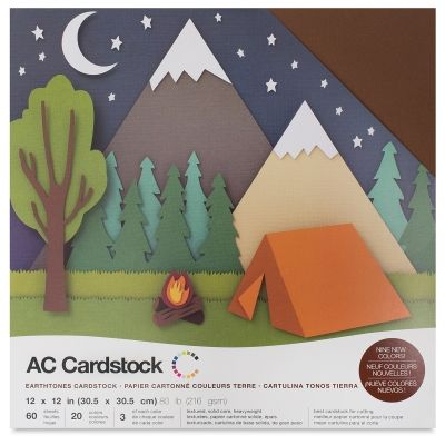 Ac Cardstock Papers 12 X 12 60 Sheets Earth Tone Colors Blick Art Materials In 2021 Cardstock Crafts American Crafts Mountain Crafts For Kids