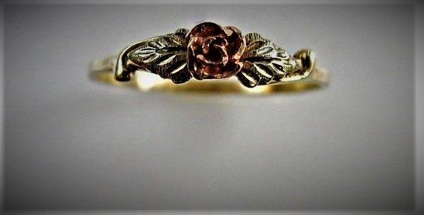 10K Black Hills Gold Rose Ring size 8