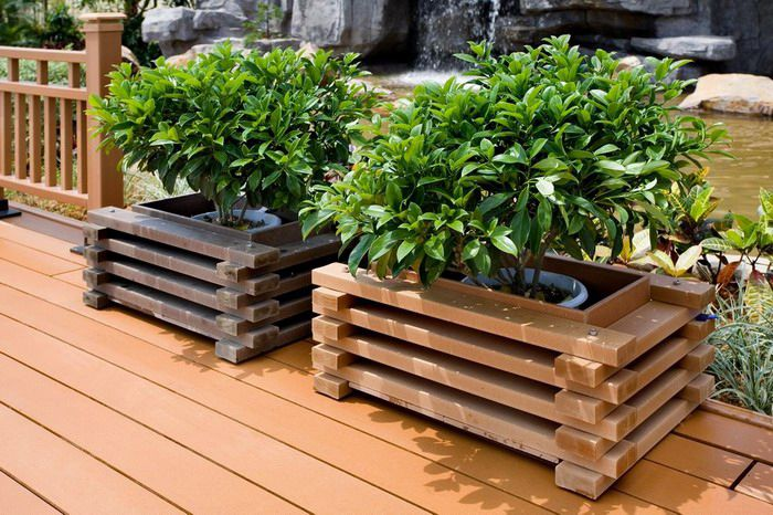 Wpc Planter Box Composite Flower Box High Quality Box Wholesale Road Isolation Pot Bunga Tanaman Taman