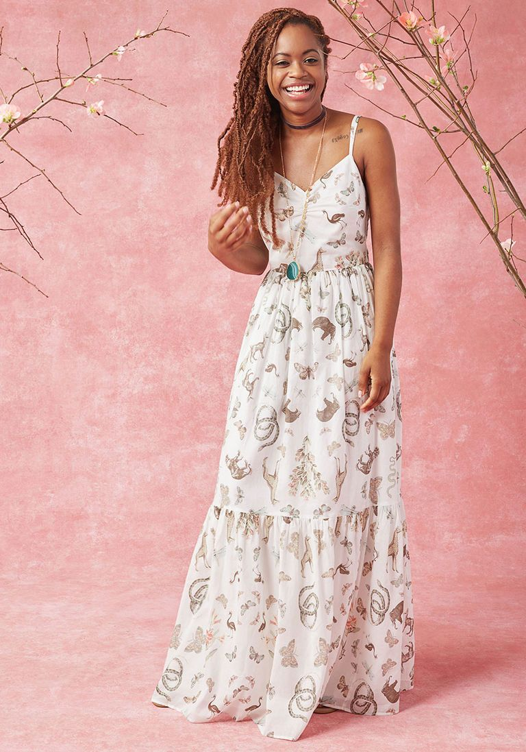 In Your Nature Maxi Dress in Fauna