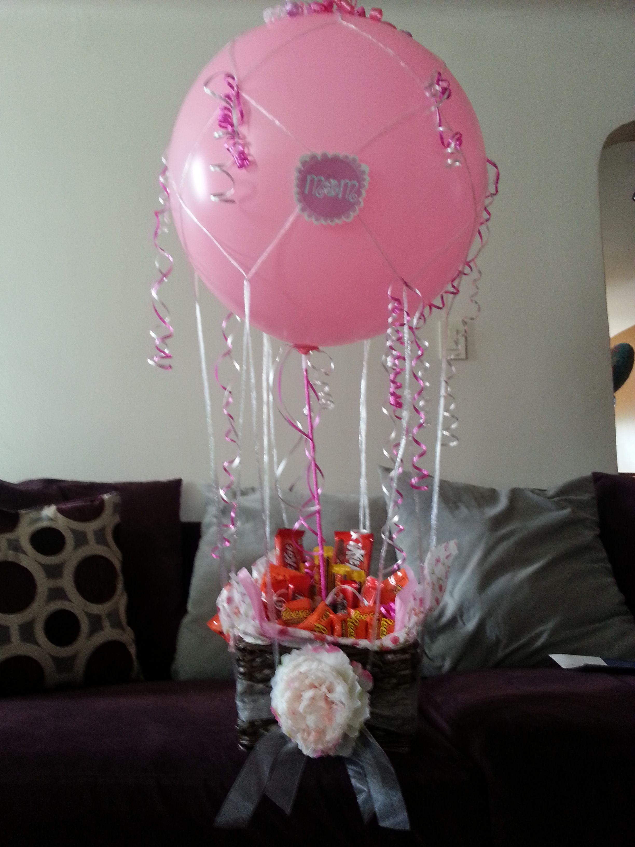Hot Air Balloon Candy Bouquet. Candy bouquet, Balloons
