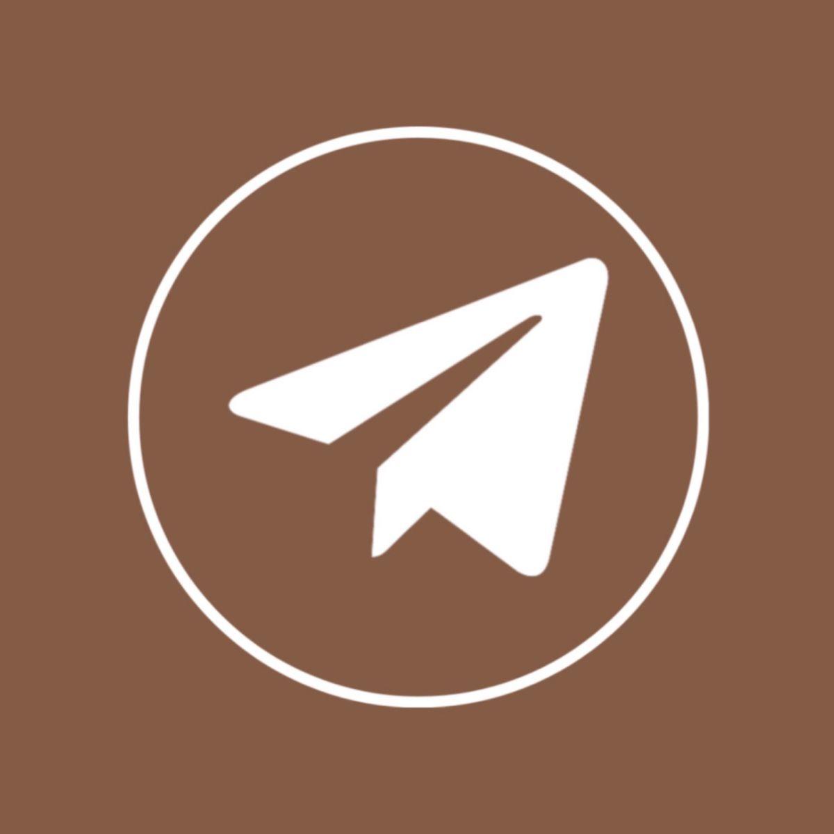 Telegram App Icon Brown Aesthetic Di 2021 Ikon Ikon Aplikasi Aplikasi Iphone