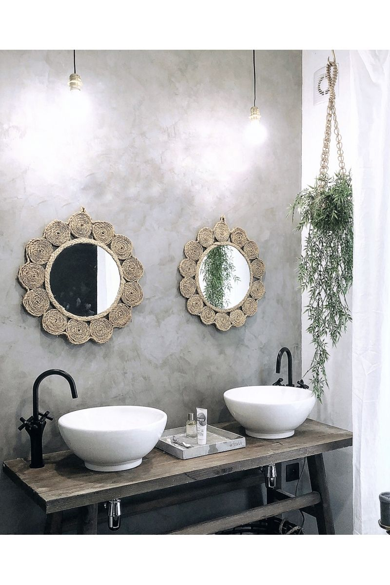 Grand Miroir Rond Luna Miroir Prettywire Decoration Idees Diy Pour Salle De Bains Miroir Decoration Petit Salon