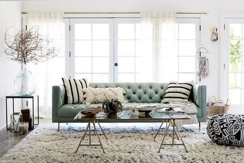 Bright spring living room