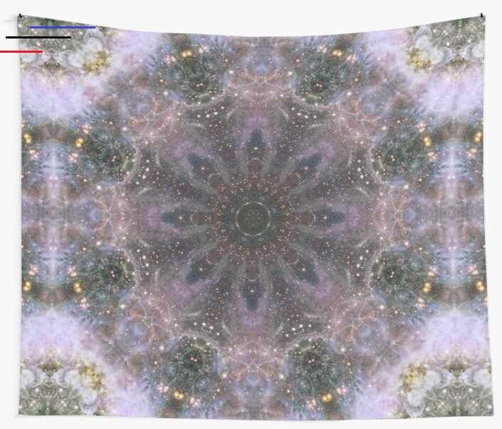 'Space Mandala no16' Wall Tapestry by Grant Osborne Created in Photoshop with images from NASA's Hubble Telescope Gallery. Ideal for space & astronomy themed rooms and home or office decorations. • Millions of unique designs by independent artists. Find your thing.  #wall #tapestry #home #decor #homedecor #abstract #modern #contemporary #artwork #artists #redbubble #mandala #space #mandalas #trippy #hippy #stars #cosmos #cosmic #cosmo #universe #star #galaxy<br> Created in Photoshop with images