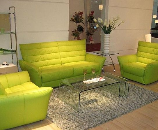 Captivating Lime Green Sofa Sets   For The Q Office Lobby!
