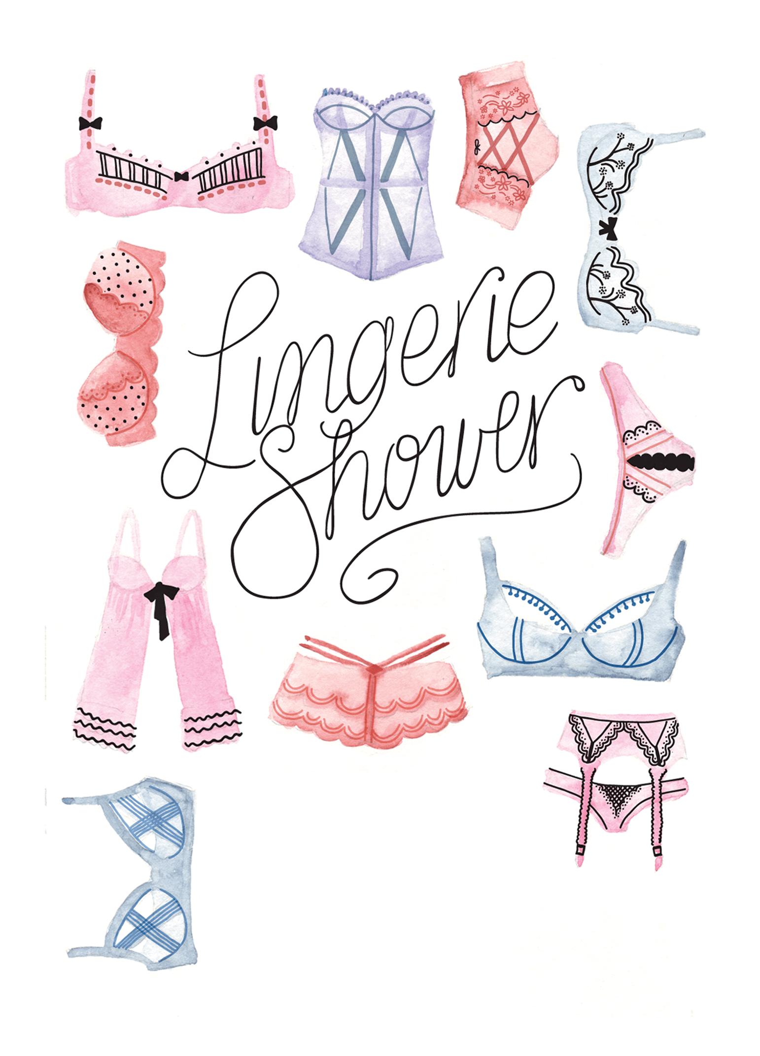 Lingerie Shower Free Printable Bridal Shower Invitation Template