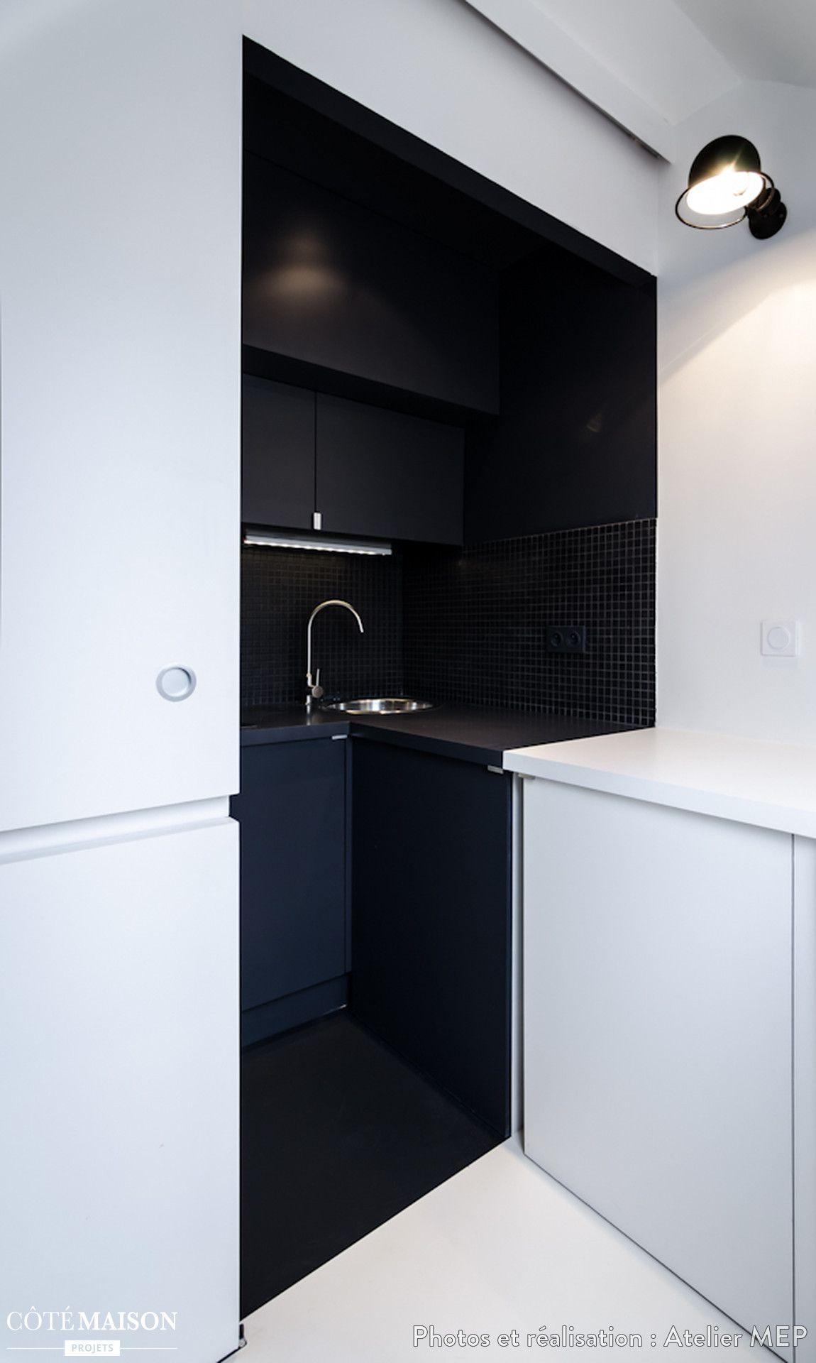 cr ation d 39 un studio de 15m paris le projet pr voit de regrouper deux chambres de bonne. Black Bedroom Furniture Sets. Home Design Ideas