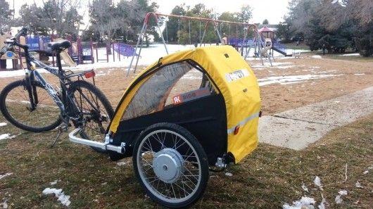 Ridekick Child Trailer Gives A Boost To The Bike Pulling It Bike