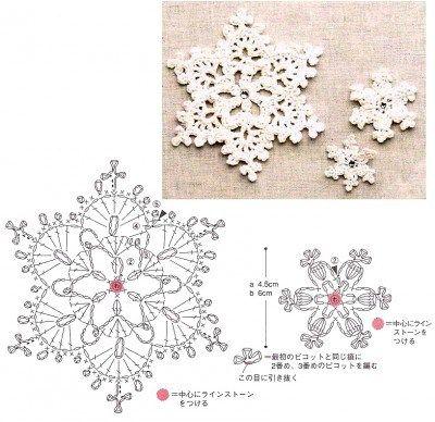 110 Crochet Snowflakes Free Pattern Diagram Haken Kerst Gehaakte Ornamenten Gehaakte Sneeuwvlokken